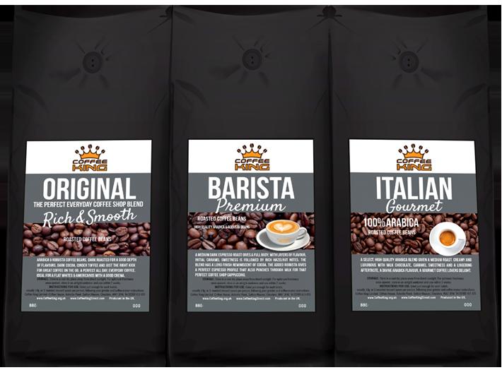 Full flavour coffee bean blends